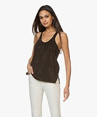 Zadig & Voltaire Lee M Strass Knitted Tank Top - Black