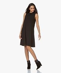 JapanTKY Amya Travel Jersey Sleeveless A-line Dress - Black