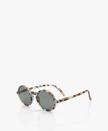 IZIPIZI SUN #G Zonnebril - Blauw Tortoise/Grijze Glazen