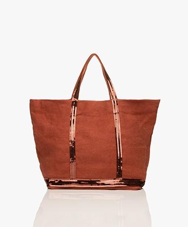Vanessa Bruno Large Linen Shopper - Sienne