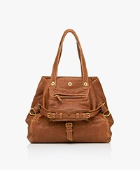 Jerome Dreyfuss Billy M Lambskin Tote - Camel/Vintage Gold