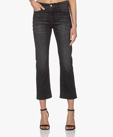 Drykorn Speak Straight Cropped Jeans - Off-black
