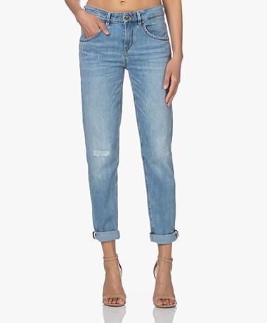 Drykorn Like Girlfriend Stretch Jeans - Lichtblauw