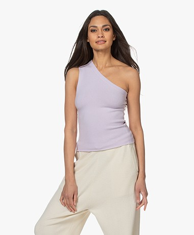 Extreme Cashmere N°108 Asymetric Knitted Top - Lavender