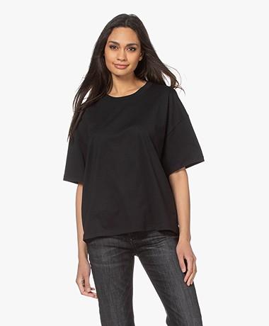 ba&sh Amor Katoenen T-shirt - Zwart