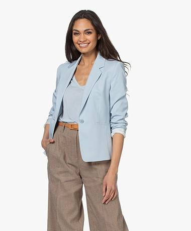 Drykorn Selsey Ponte Jersey Blazer - Light Blue
