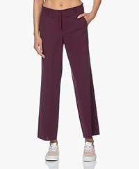 JapanTKY Kuya Travel Jersey Cropped Pants - Burgundy