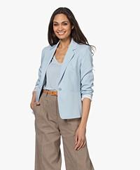 Drykorn Selsey Ponte Jersey Blazer - Lichtblauw