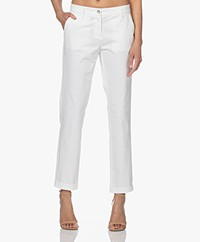 Repeat Stretch Cotton Pants - White