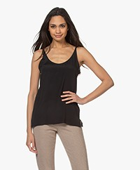 Drykorn Isalie Silk Blend Top - Black