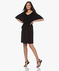 no man's land Crepe Jersey Dress - Core Black