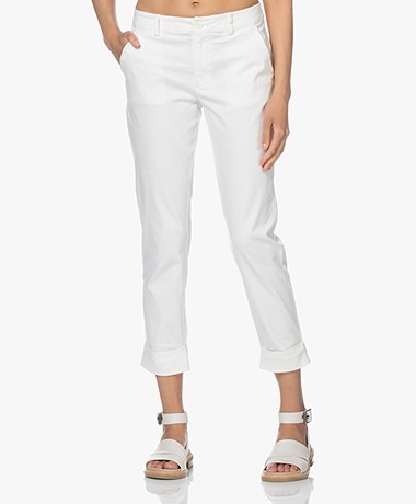 Josephine & Co Les Cotton Blend Pants - Off-white