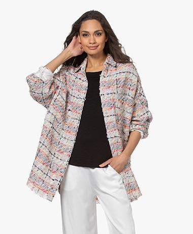 IRO Mekkie Tweed Cotton Blend Jacket - Multi-color Pink