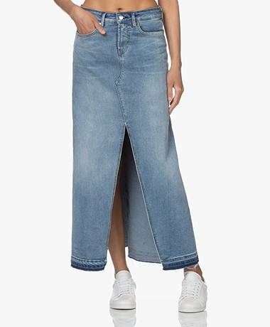 Denham Festival Denim Maxi Skirt - Blue