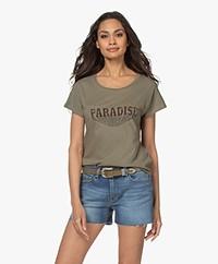 MKT Studio Tyson Organic Cotton Print T-shirt - Khaki