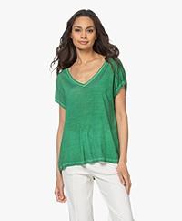 Majestic Filatures Puur Zijden T-shirt - Smaragd