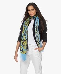 Kyra & Ko Lula Modal Print Scarf - Blue Iris