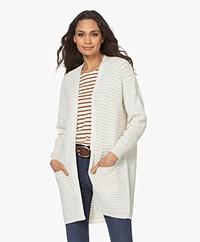 Sibin/Linnebjerg Amalia Merinomix Open Vest - Off-white