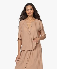 by-bar Minde Crinkle Blouse - Nude