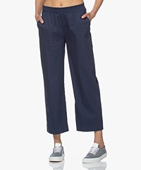 LaSalle Stretch Katoenen Pull-on Broek - Navy