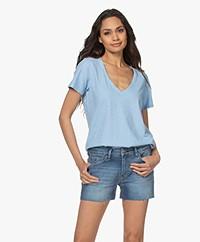 Denham Ramona Slub Jersey T-shirt - Dusk Blue