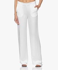 Woman by Earn Lizzy Satin Wide Leg Pants - Off-white