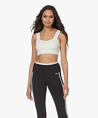 Norba Wave Sports Bra Top - Ivory