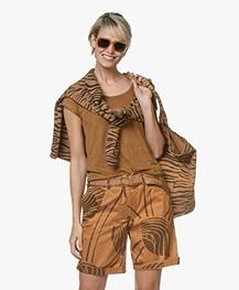 Ragdoll LA Holiday Canvas Zebra Tas - Bruin
