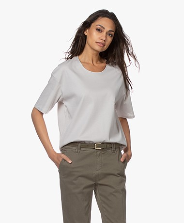 Filippa K Lois Mid-length Sleeve Tee - Sterling Grey