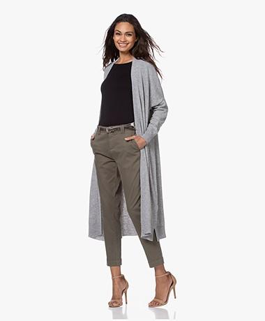 Sibin/Linnebjerg Sister Lang Open Vest - Sweat Grey