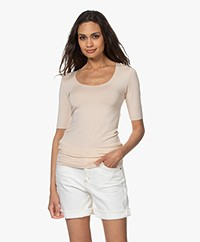 Majestic Filatures Round Neck T-shirt - Nude
