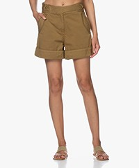 Rag & Bone Mandy Wide Leg Shorts - Moss