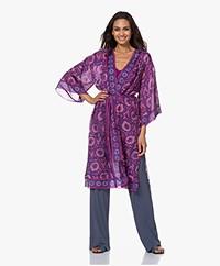ba&sh Kirby Printed Silk Kimono - Bougainvillea