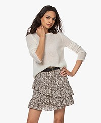 no man's land Delicate Mohair Blend Sweater - Ivory