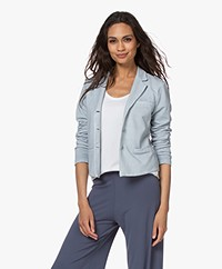 no man's land Cotton Jersey Blazer - Pearl Grey