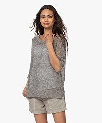 Repeat Open-knit Sweater with Shiny Yarns - Burla