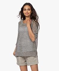 Repeat Opengebreide Sweater met Glansgarens - Burla