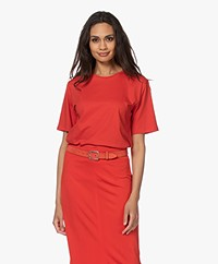 Filippa K Annie Organic Cotton T-shirt - Red Orange