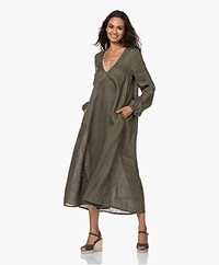 Resort Finest Franca Linnen A-lijn Jurk - Vineyard Green