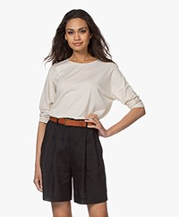 Repeat Lyocell Blend Batwing T-shirt - Desert