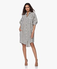 Closed Livia Striped Oversized Shirt Dress - Dusty Pine