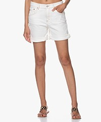 Drykorn Lap Denim Shorts - Ecru