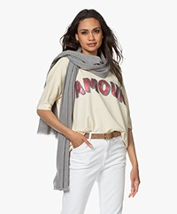 no man's land Cotton Scarf - Grey Melange