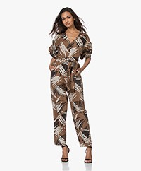 Closed Printed Cotton Jumpsuit - Golden Oak