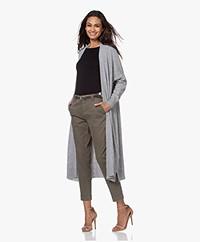 Sibin/Linnebjerg Sister Long Open Cardigan - Sweat grey