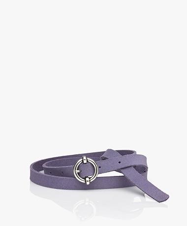 American Vintage Atomiko Leather Belt - Orchidee