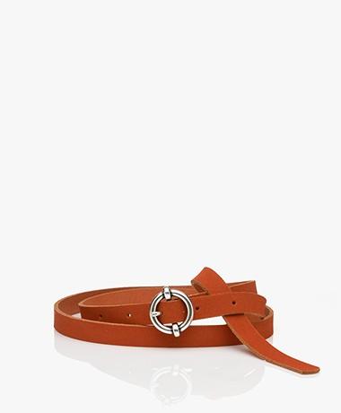 American Vintage Atomiko Leather Belt - Blood Red