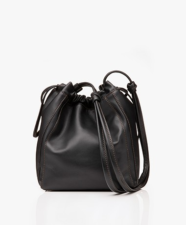 Filippa K Lena Soft Bucket Bag with Draw String - Black