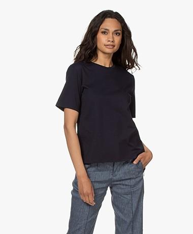 Filippa K Annie Bio Katoenen T-shirt - Navy