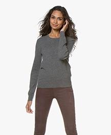 Repeat Round Neck Cashmere Sweater - Medium Grey